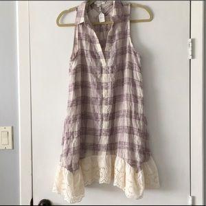 Soieblu Plaid Lace Summer Dress
